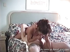 Longhaired absolutely exposed beauty is playing with her holes